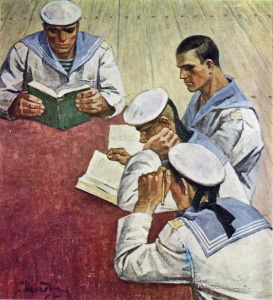 Неледва Галина Александровна (Украина, 1938) «Матросы учатся» 1965