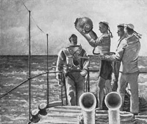 ВЯЛОВ К. А. Водолазы в море. 1936