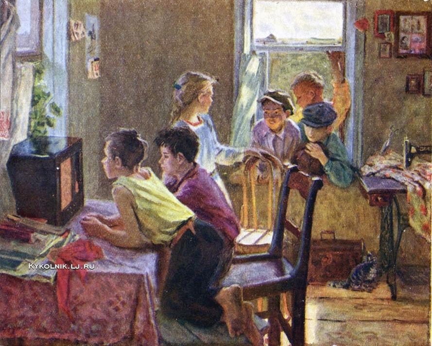 1954 Зверьков Ефрем Иванович (1921-2012) «Детская передача»