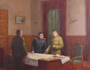 Лаврухин Юрий. И.В. Сталин и А.М. Василевский в дни войны.