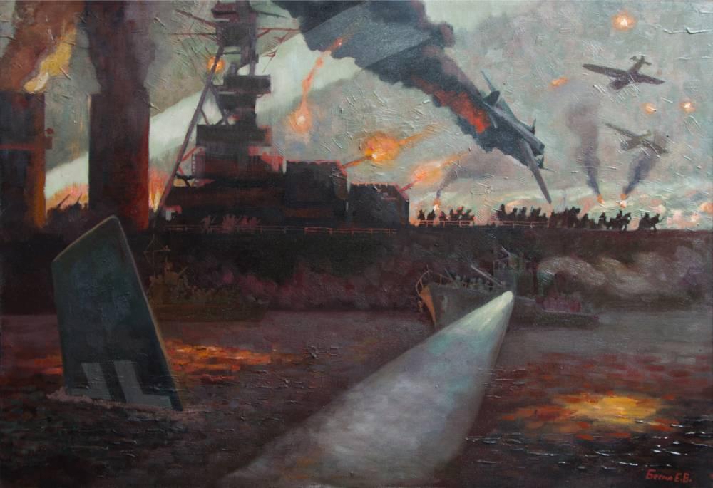 Бегма Елена. Крейсер «Красный Кавказ» высаживает десант.