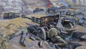 Лебедев Владимир. Бой с танками.