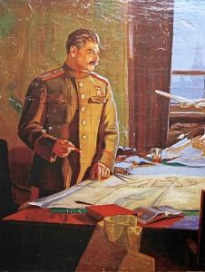 Звиедрис Александр. Сталин у военной карты