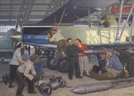 Юон К.Ф. Пробная подвеска бомб. 1939.