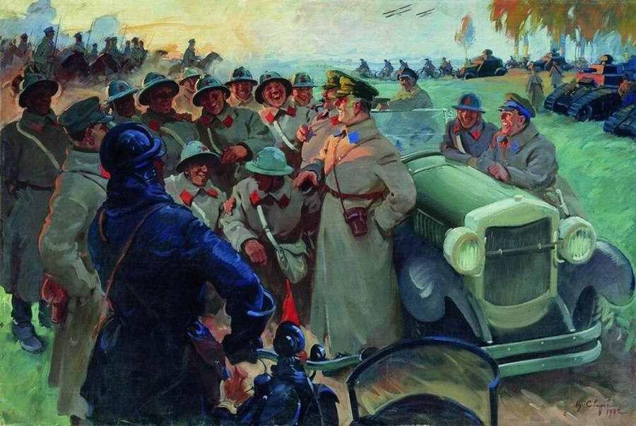 К. Е. Ворошилов на манёврах - Василий Сварог (1932 год)
