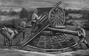 Для стрельбы по аэропланам во время мировой войны в большинстве случаев применялись обычные полевые орудия. (Е. Барсуков. Артиллеристы мировой войны. стр. 106)