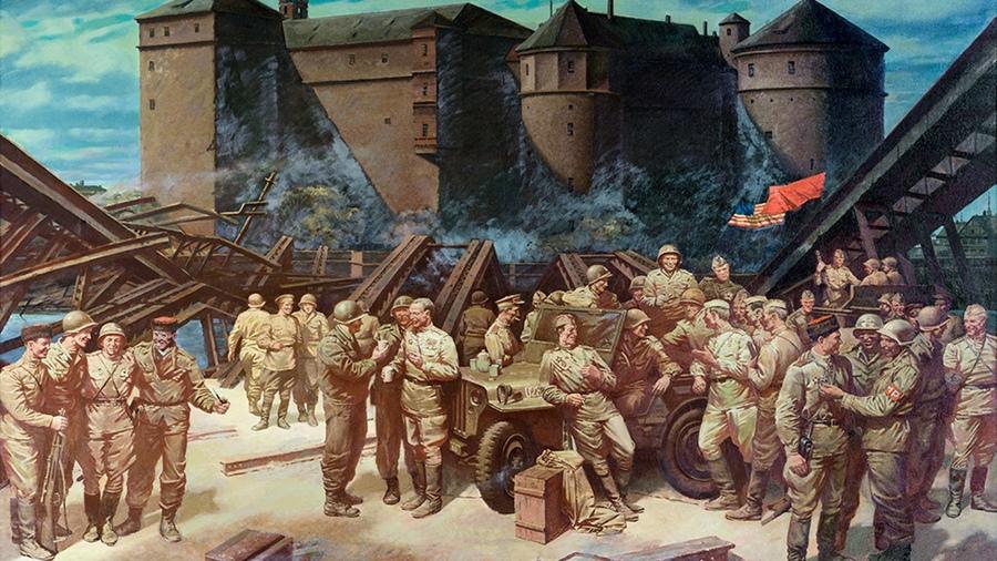 Сытов Александр Капитонович - Встреча на Эльбе 25 апреля 1945 года в городе Торгау.