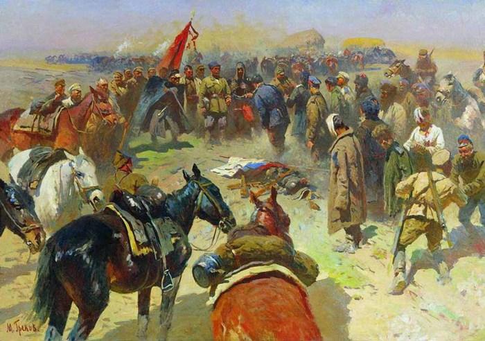 М. Греков. Разоружение деникинцев