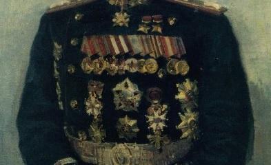 Григорьев Сергей Алексеевич (1910 - 1988). Портрет Маршала Советского Союза Ивана Степановича Конева . 1947