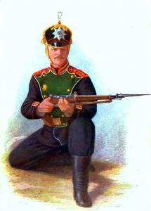 Рядовой Лейб-Гвардии Егерского полка в парадной форме, 1909 г.