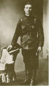 И.С. Конев — военный комиссар города Никольска. 1918 г.