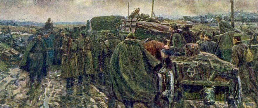 Картина Бориса Николаева «Дороги войны» (1964 год)