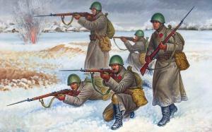 Федоров Олег. Советские пехотинцы.