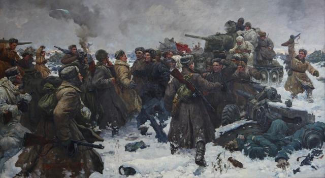 Гальков Юрий. Сталинград. Соединение фронтов в районе Калача.