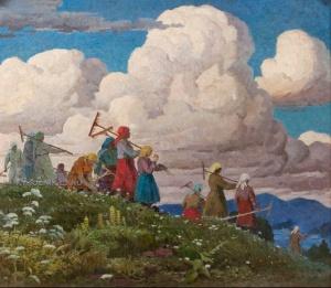 Варення Николай Романович (1917-2001) «С поля» 1974