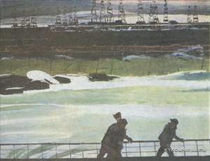 Касумов Надир Садыхович (1928-2000) «Нефтяные просторы» из серии «Нефтяные Камни» 1979-1980