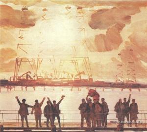 Касумов Надир Садыхович (1928-2000) «В День Победы» 1975
