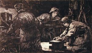 Быстров Павел Александрович (1924-1963) «Буровики. Нефтяники Тэбука» 1963