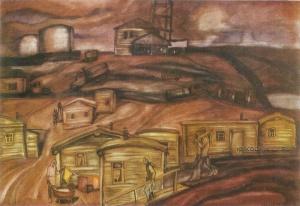 Белов Станислав Кондратьевич (1937-1989) «Первые шаги Нефтюганска» 1979