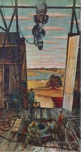 Ващенко Гавриил Харитонович (1928-2014) ««Нефтяники Полесья» из цикла «Земля и люди Полесья» 1974
