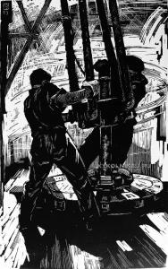 Гроховский Владимир Григорьевич (1925-1971) «В глубь земли. Из серии Нефтеразведчики Васюгана» 1965