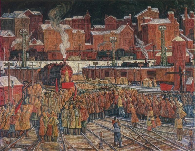 Вороновский Дмитрий Дмитриевич (Россия, 1952) «Призыв. 1941 год» 1980.
