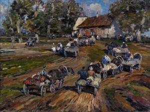 Скриде Арий (Арийс) Августович (1906-1987) «Сдача зерна» 1949