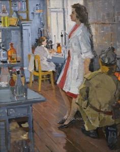 Бурак Александр Филиппович (1921-1997) эскиз к картине «На Севере дальнем» 1964