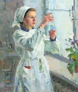 Соловьёв Евгений Васильевич (193-2009) «Лаборантка» 1960
