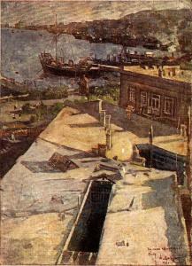 Ф.А. Модоров. Набережная Баку. 1926