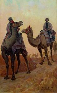 Ф.А. Модоров. Караван верблюдов. 1927