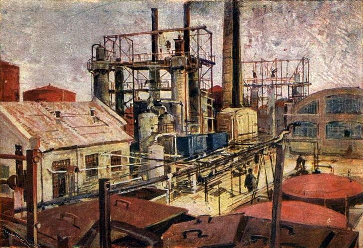 Ф.А. Модоров. Белый город, Керосиновый завод. 1930-е.