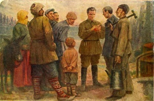Ф.А. Модоров. Киров среди рабочих Баку. 1938