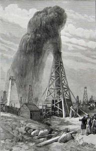 У. Симпсон. «Нефтяные скважины в Баку», 1886.