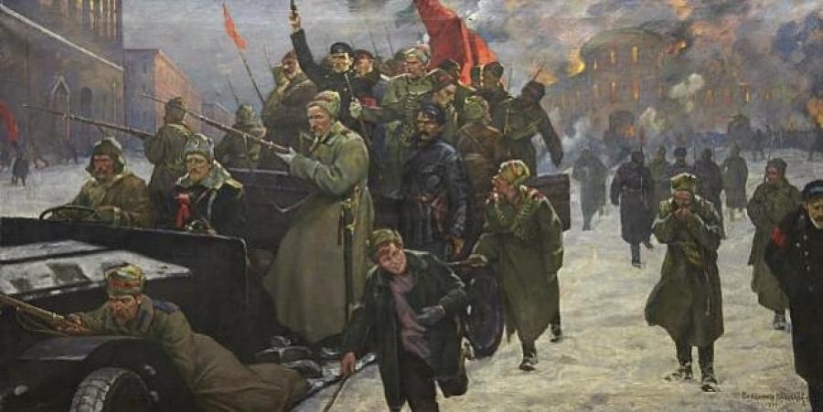 Февральские дни в Петрограде. Кузнецов Владимир Александрович (1874-1960)