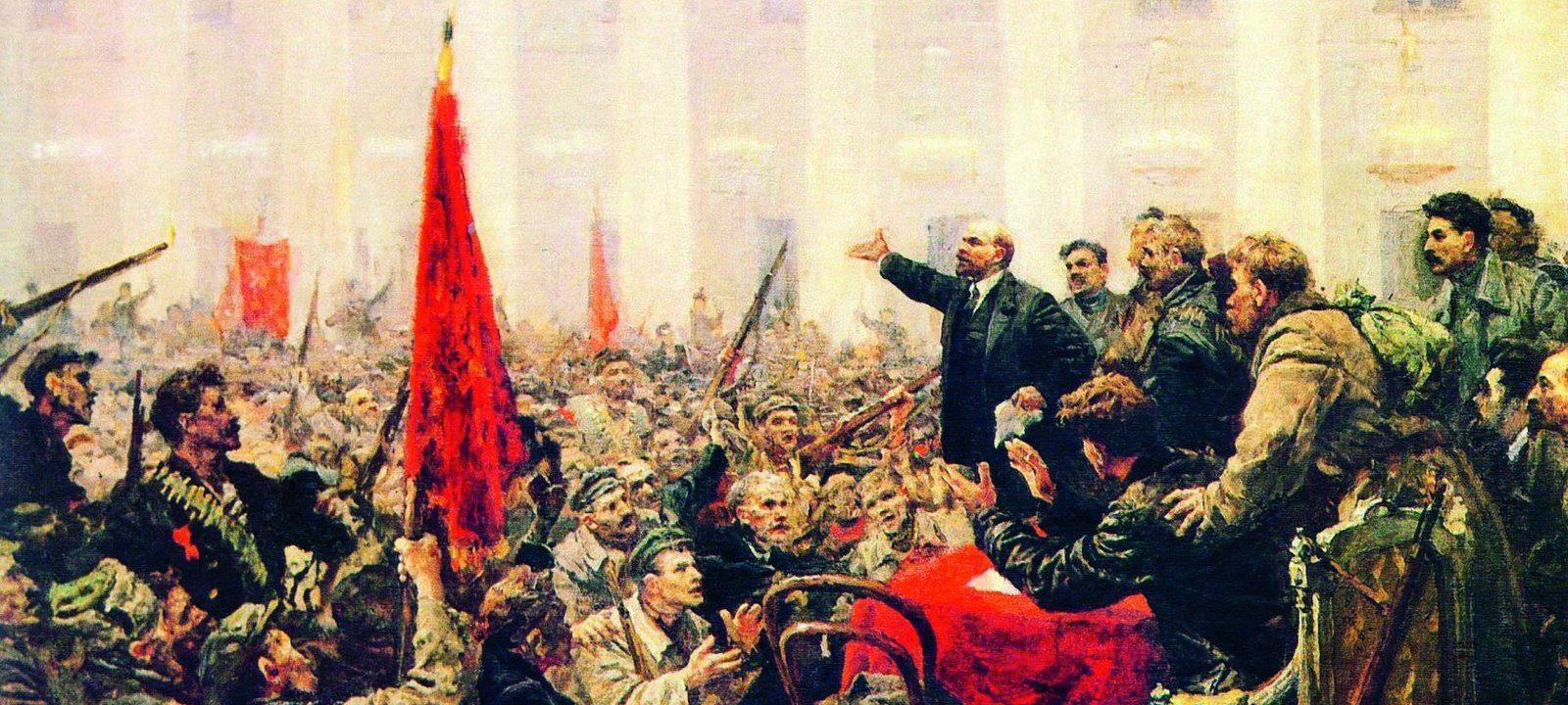 Серов В.А. Ленин Провозглашает Советскую власть. Эскиз. 1947