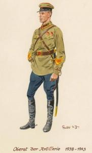 Полковник артиллерии - 1938 - 43 г.г. Советские солдаты глазами немецкого художника Герберта Кнотеля (Herbert Knotel)