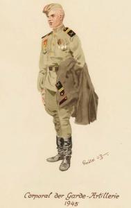 Младший сержант, артиллерист - 1945 г.Советские солдаты глазами немецкого художника Герберта Кнотеля