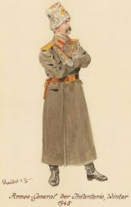 Генерал армии - 1945 г. Советские солдаты глазами немецкого художника Герберта Кнотеля (Herbert Knotel)