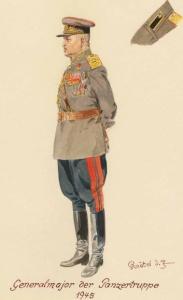 Генерал-майор танковых войск - 1945 г. Советские солдаты глазами немецкого художника Герберта Кнотеля (Herbert Knotel)