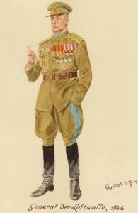 Генерал-полковник ВВС - 1945 г.Советские солдаты глазами немецкого художника Герберта Кнотеля (Herbert Knotel)