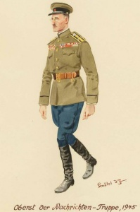 Полковник из войск связи - 1945 г. Советские солдаты глазами немецкого художника Герберта Кнотеля (Herbert Knotel)