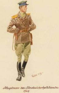 Капитан Народного Комиссариата Госбезопасности - 1945 г.Советские солдаты глазами немецкого художника Герберта Кнотеля (Herbert Knotel)