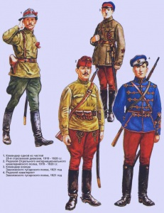 Пехота и кавалерия РККА (1919 - 1920 г.г.). Рисунки Роберто Паласиос-Фернандеса