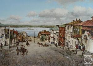Курсеев Вячеслав. Старая Самара, вид с заводской улицы на Волгу