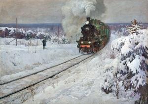 Януш Леонид Борисович (1897-1978) «Паровоз» 1947