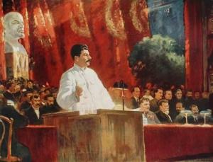 Выступление И. В. Сталина на ХVI съезде партии — Александр Герасимов (1935 год)