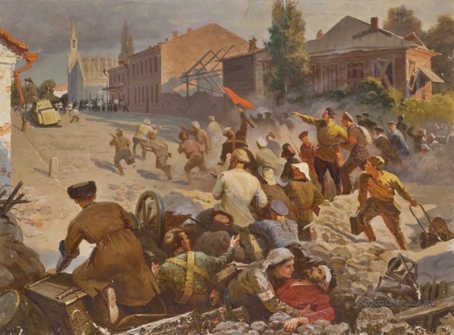 Хетагуров Марат Махарбекович (1938-1993) «Революция 1905 года во Владикавказе» 1960-е