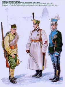 Гражданская война в России (1918 - 1922 г.г.). Военные учебные заведения Красной Армии. Рисунки А. Каращука