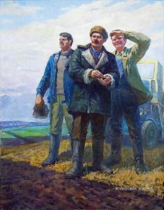 Беседа Петр Николаевич (Россия, 1923) «Взопрели озимые…» 1980